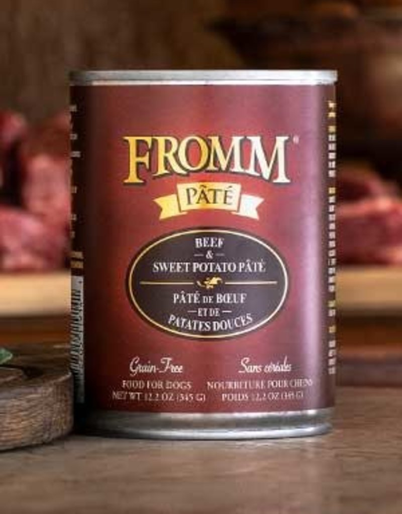 Fromm Family Foods, LLC Fromm Dog Can Pate Beef and Sweet Potato 12.2 oz
