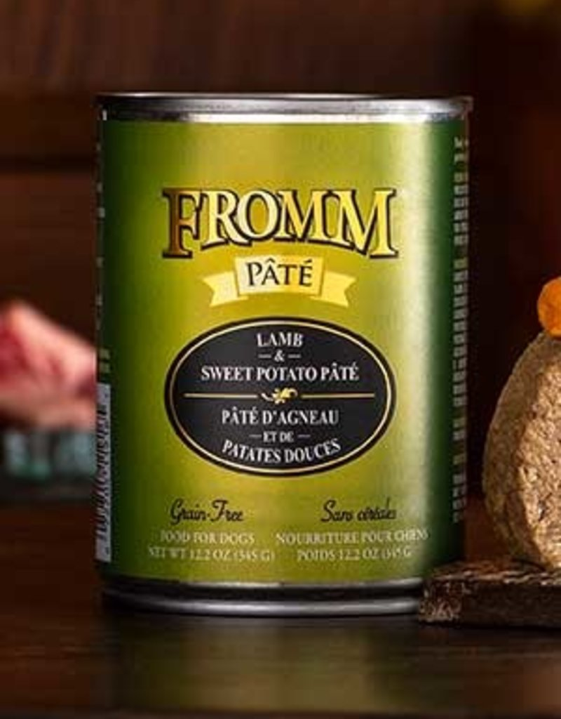 Fromm Family Foods, LLC Fromm Dog Can Pate Lamb and Sweet Potato 12.2 oz