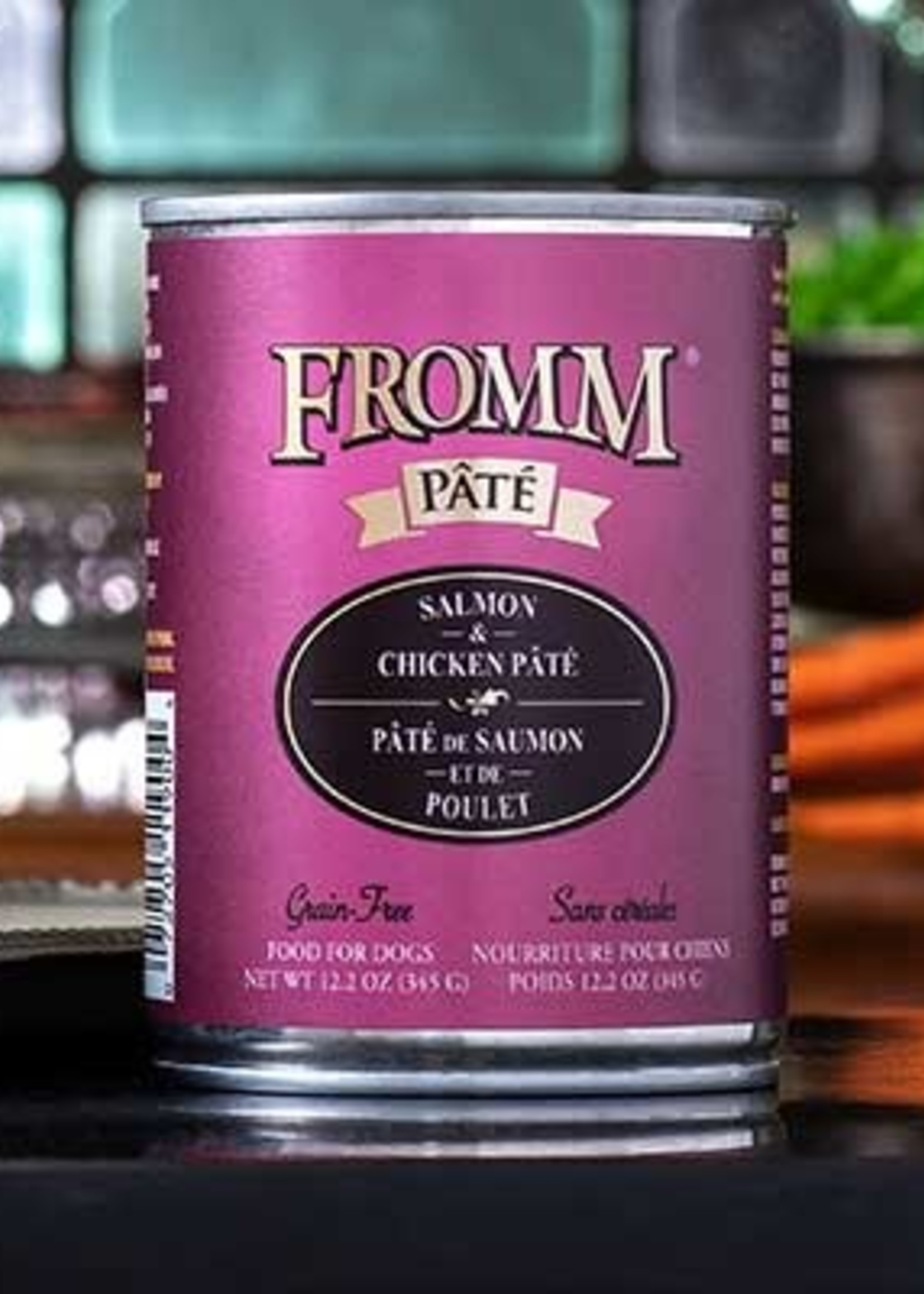 Fromm Family Foods, LLC Fromm Dog Can Pate Salmon and Chicken 12.2 oz