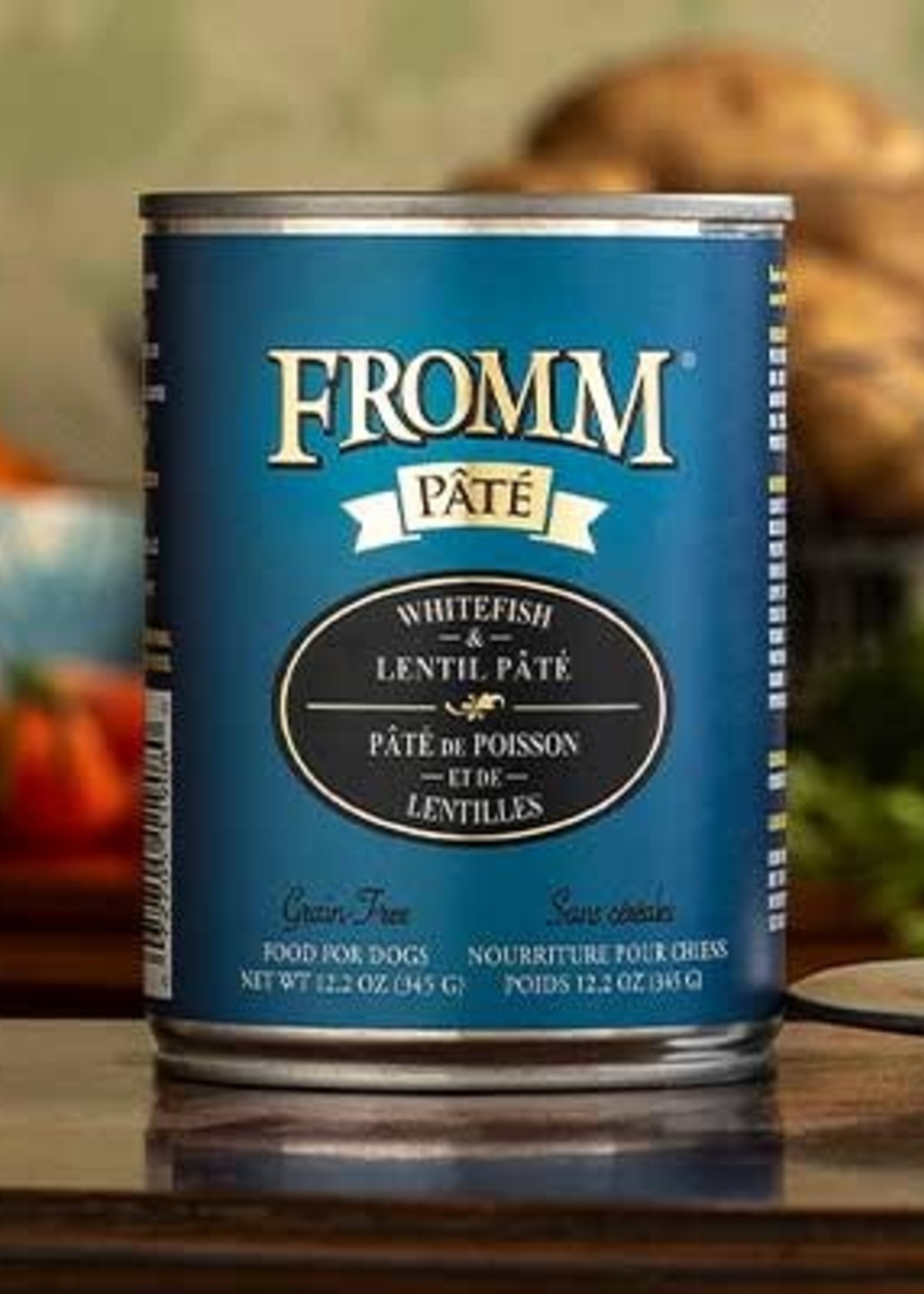 Fromm Family Foods, LLC Fromm Dog Can Pate Whitefish and Lentil 12.2 oz