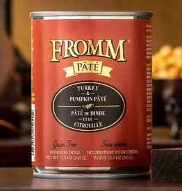 Fromm Family Foods, LLC Fromm Dog Can Pate Turkey and Pumpkin 12.2 oz