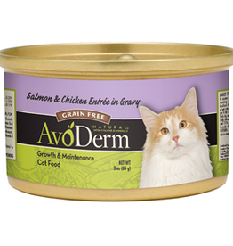 Breeder's Choice Pet Foods, Inc. AvoDerm Cat Can Salmon and Chicken 3 oz