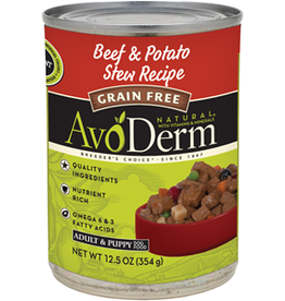 AvoDerm by Breeder's Choice AvoDerm Dog Can Beef and Potato Stew 12.5 oz