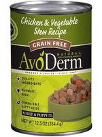 AvoDerm by Breeder's Choice AvoDerm Dog Can Chicken and Vegetable Stew 12.5 oz