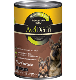 AvoDerm by Breeder's Choice AvoDerm Dog Can Revolving Beef 12.5 oz