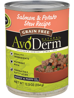 AvoDerm by Breeder's Choice AvoDerm Dog Can Salmon and Potato Stew 12.5 oz