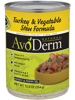 AvoDerm by Breeder's Choice AvoDerm Dog Can Turkey and Vegetable Stew 12.5 oz
