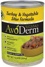 AvoDerm by Breeder's Choice AvoDerm Dog Can Turkey and Vegetable Stew 12.5 oz