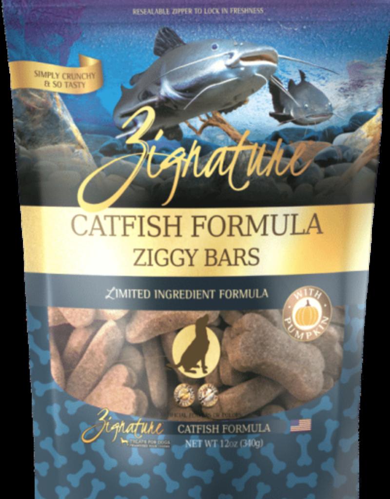 Zignature Zignature Dog Treats Ziggy Bars Catfish 12 oz