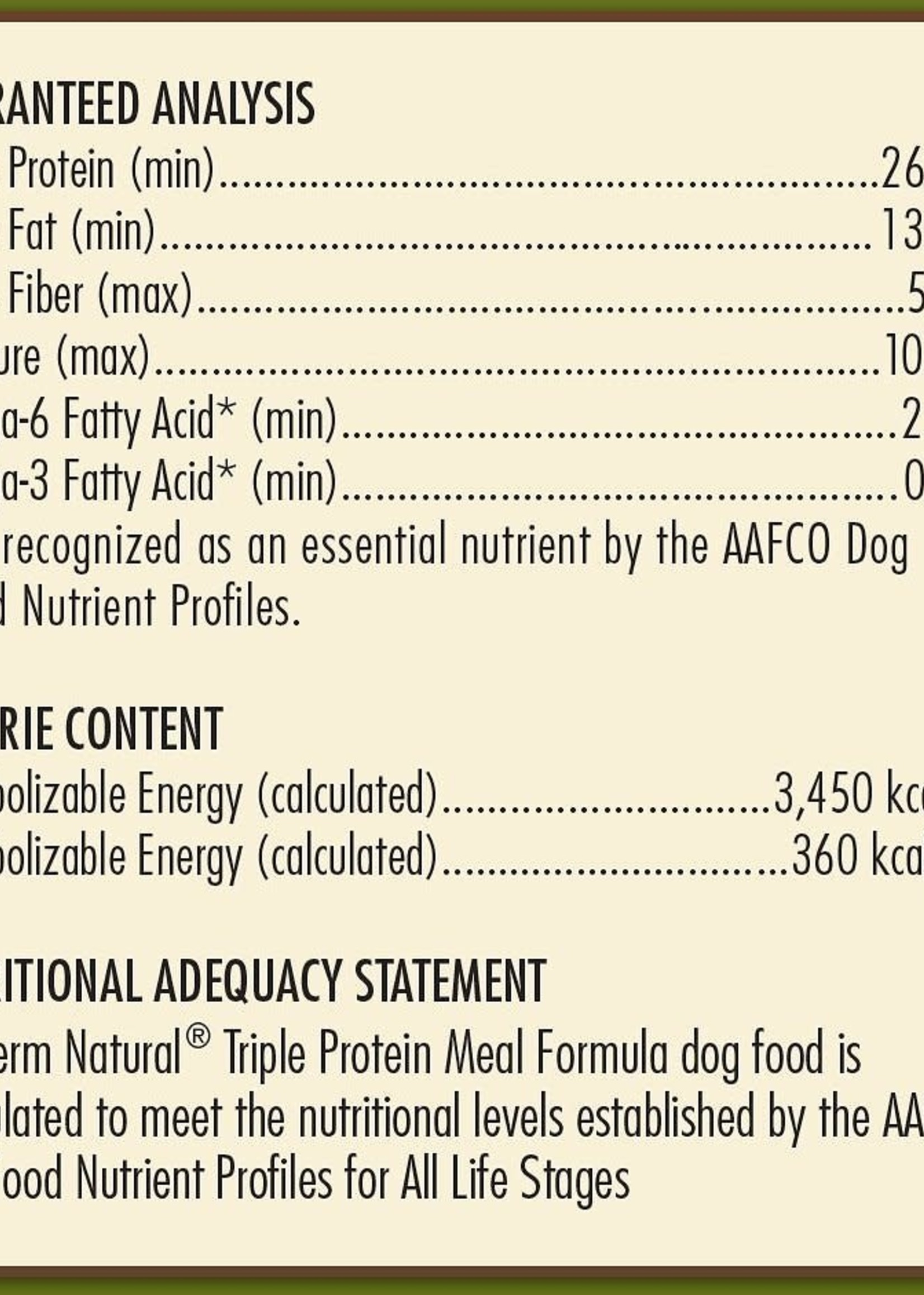 AvoDerm by Breeder's Choice AvoDerm Dog Dry Triple Protein 30 lbs