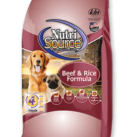 Tuffy's Pet Foods Inc./NutriSource NutriSource Dog Dry Beef and Brown Rice 30 lbs