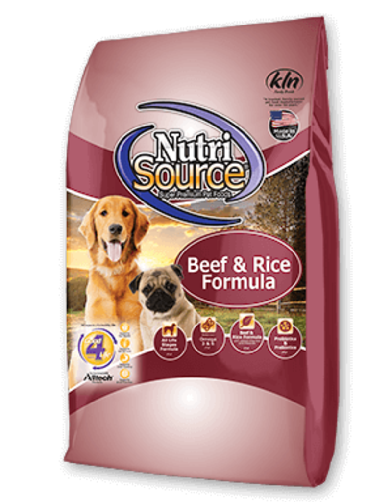 NutriSource NutriSource Dog Dry Beef and Brown Rice 30 lbs