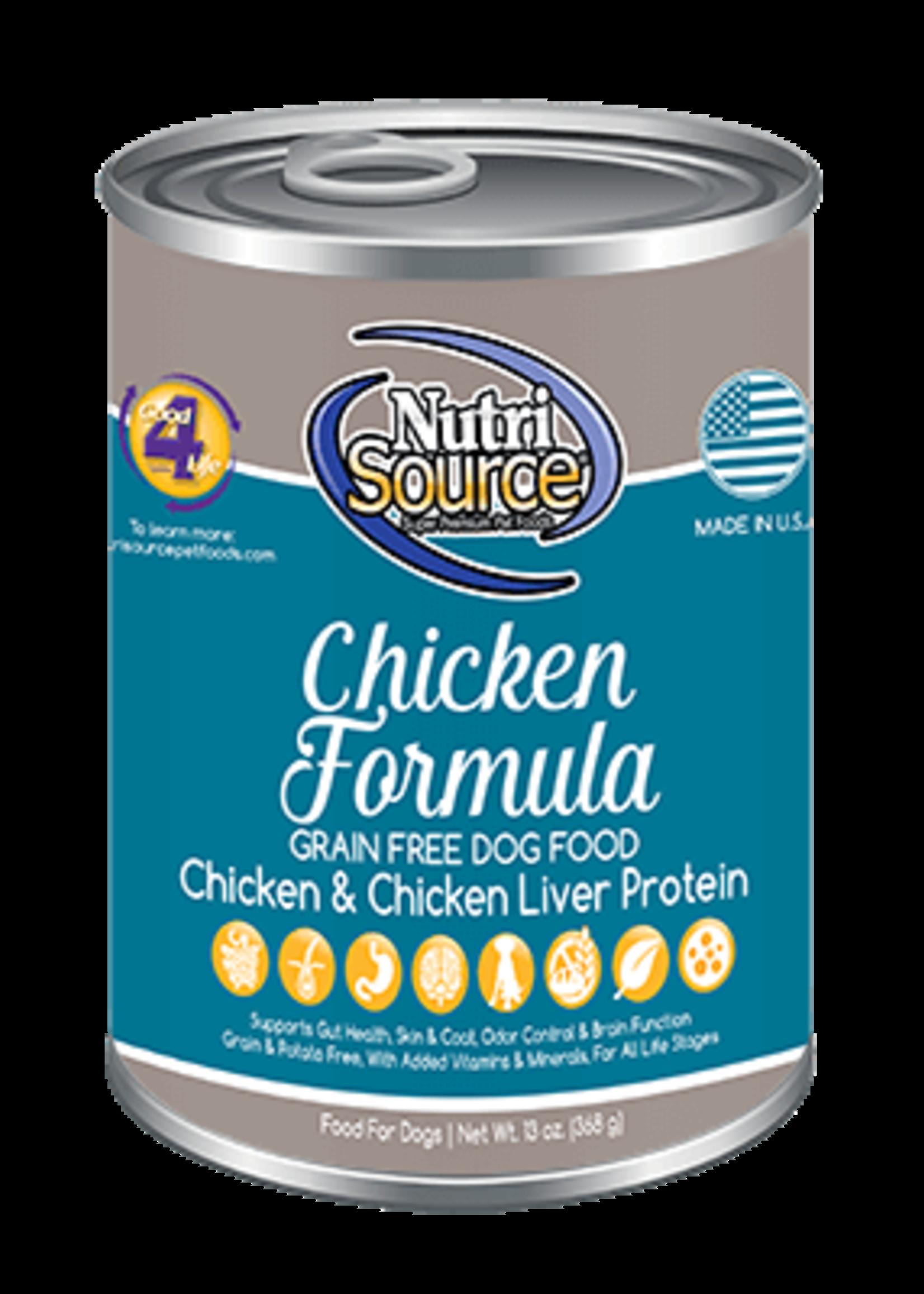 NutriSource NutriSource Dog Can Grain Free Chicken 13 oz