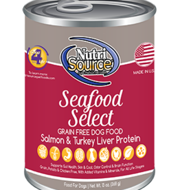 NutriSource NutriSource Dog Can Grain Free Seafood 13 oz