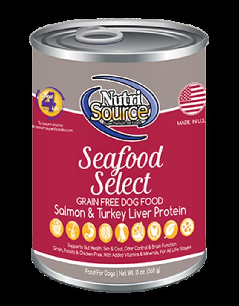 NutriSource NutriSource Dog Can Grain Free Seafood 13 oz