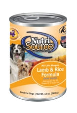 NutriSource NutriSource Dog Can Lamb and Rice 13 oz
