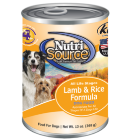 Tuffy's Pet Foods Inc./NutriSource NutriSource Dog Can Lamb and Rice 13 oz
