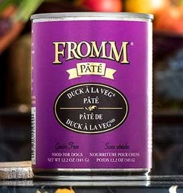 Fromm Family Foods, LLC Fromm Dog Can Pate Duck a la Veg 12.2 oz