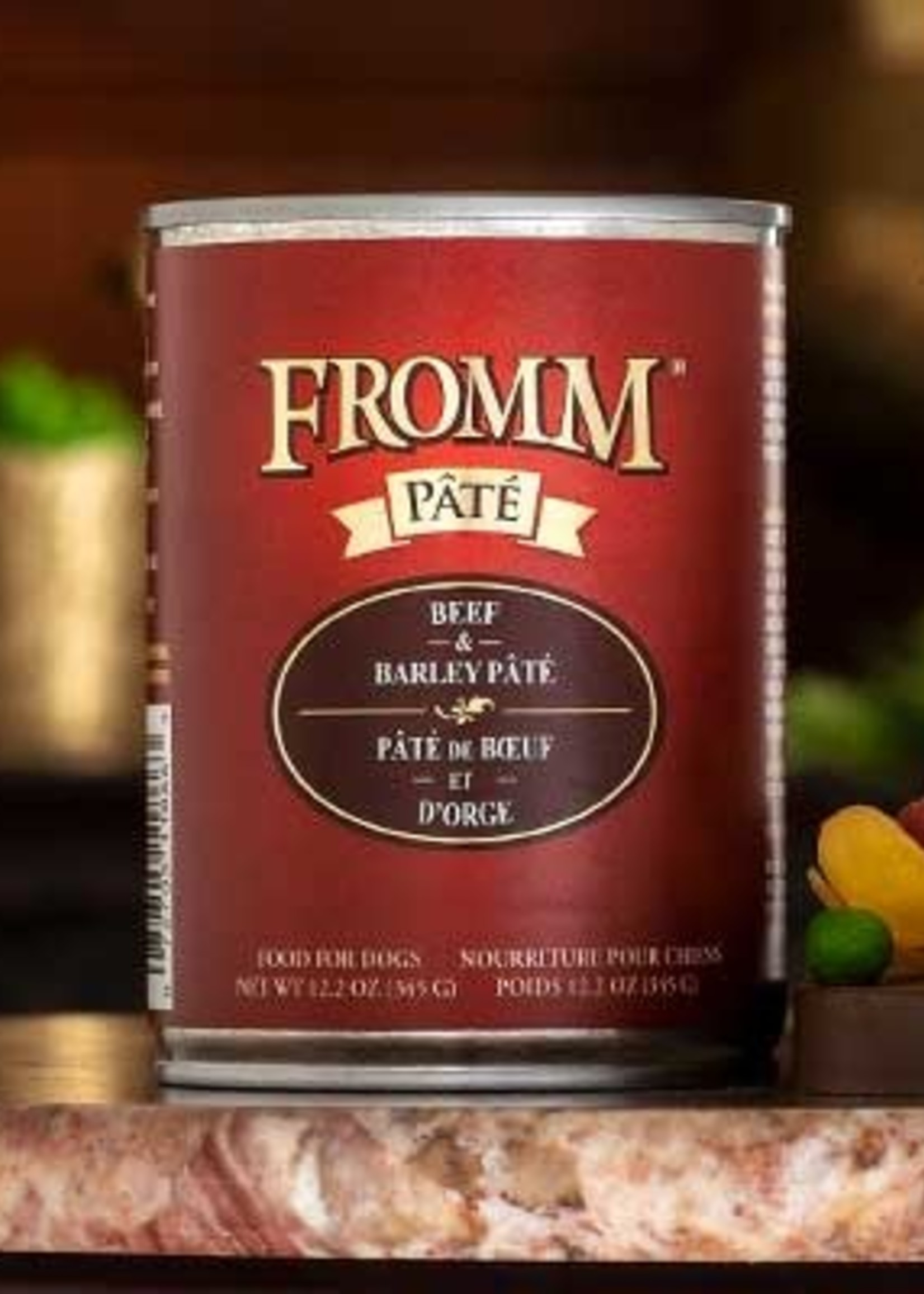 Fromm Family Foods, LLC Fromm Dog Can Pate Beef and Barley 12.2 oz