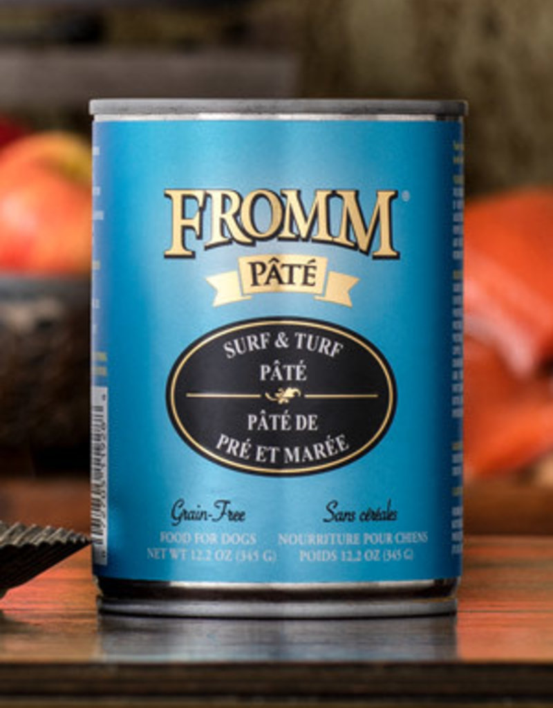 Fromm Family Foods, LLC Fromm Dog Can Pate Surf and Turf 12.2 oz