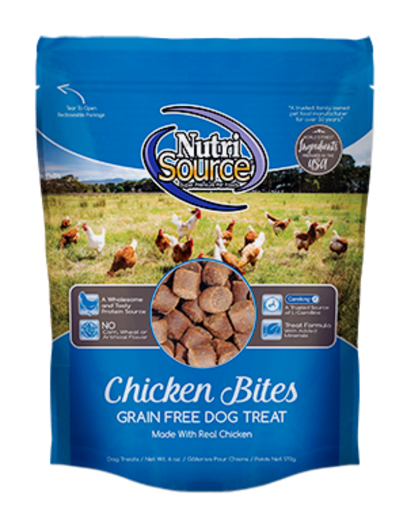 NutriSource NutriSource Dog Treat Grain Free Chicken Bites 6 oz