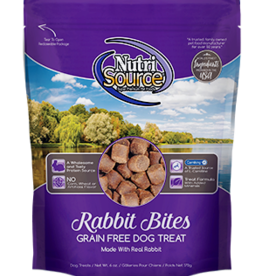 NutriSource NutriSource Dog Treat Grain Free Rabbit Bites 6 oz