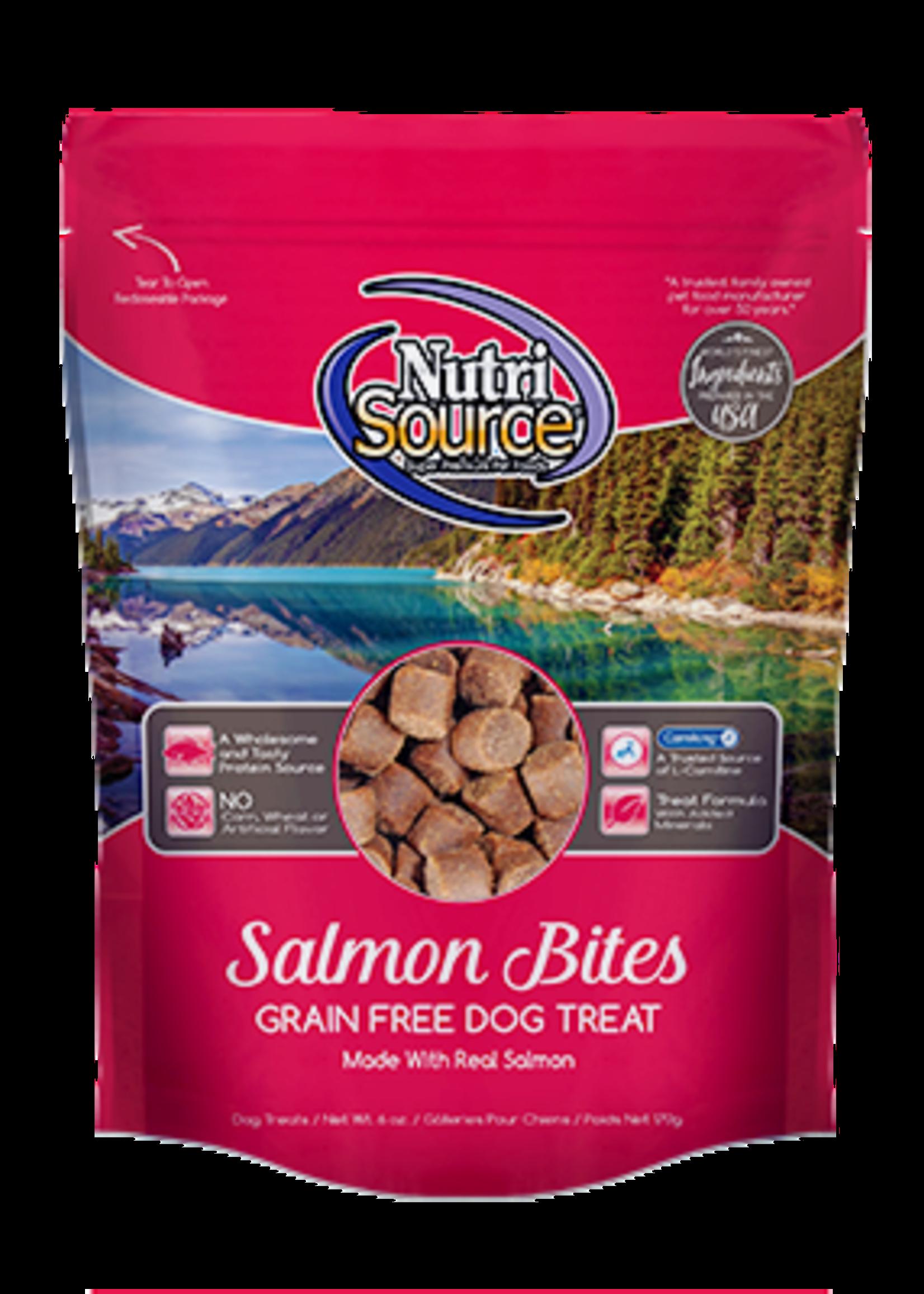 NutriSource NutriSource Dog Treat Grain Free Salmon Bites 6 oz