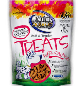 Tuffy's Pet Foods Inc./NutriSource NutriSource Dog Treat Soft and Tender Salmon 6 oz