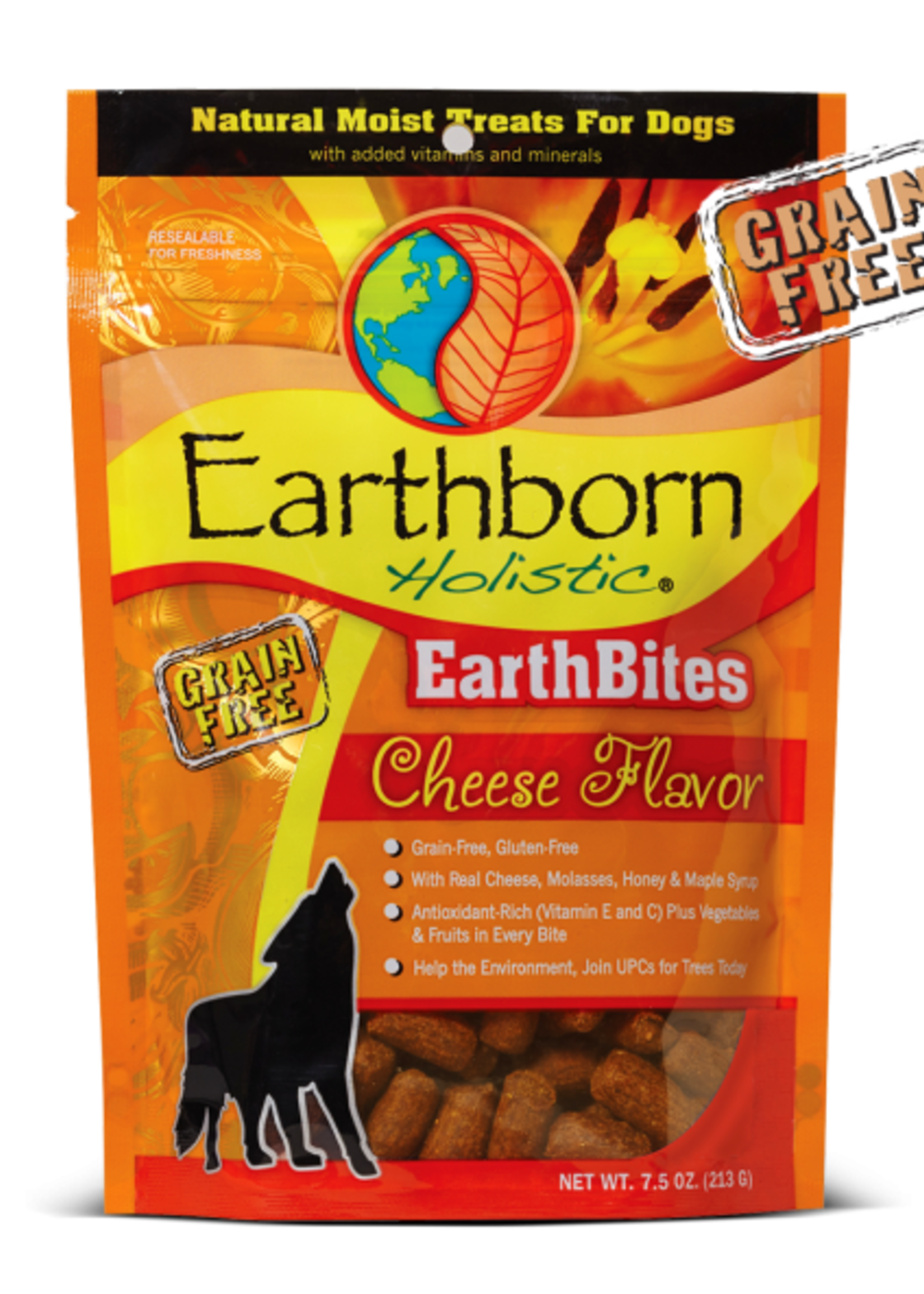 Earthborn by Midwestern Pet Earthborn Dog Treat EarthBites Cheese Flavor 7.5 oz