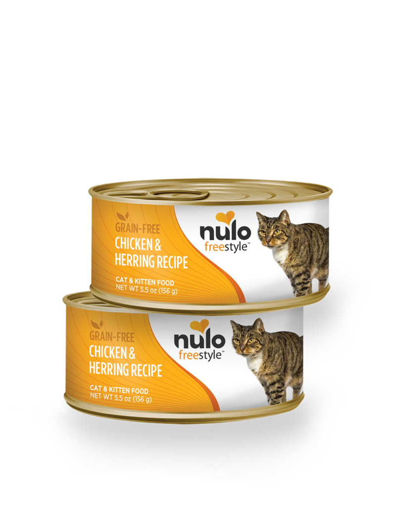 Nulo Nulo Freestyle Cat Can Chicken and Herring  5.5 oz