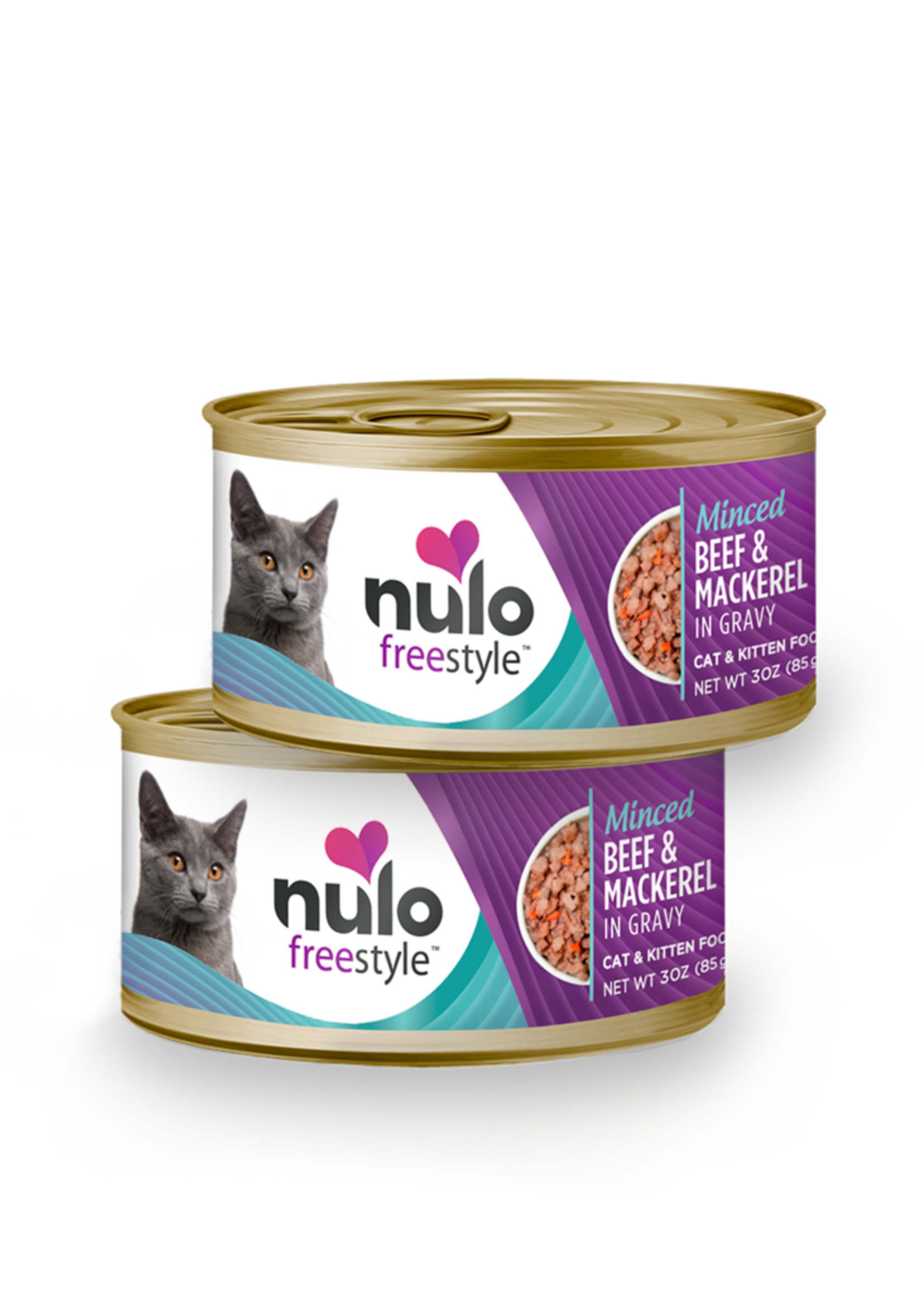 Nulo Nulo Freestyle Cat Can Minced Beef Mackerel 3 oz