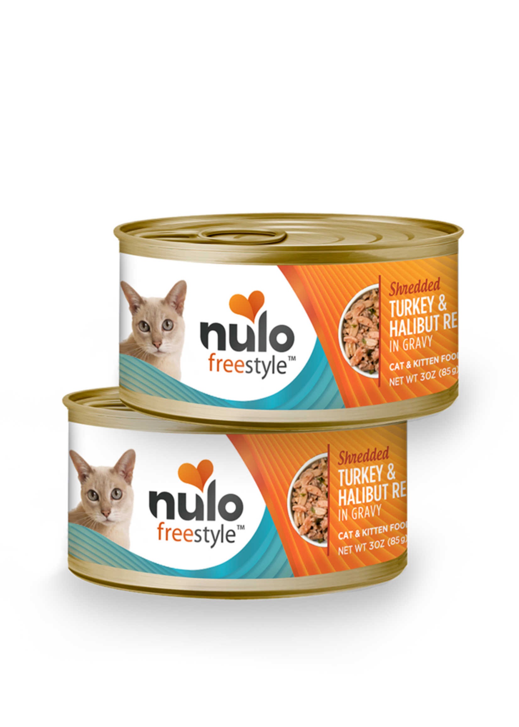Nulo Nulo Freestyle Cat Can Shredded Turkey and Halibut 3 oz