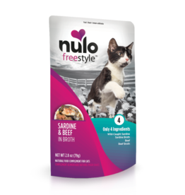 Nulo Nulo Freestyle Cat Pouch Sardine and Beef 2.8 oz