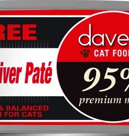 Dave's Pet Food Dave's Cat Can 95% Premium Beef and Liver Pate 5.5 oz