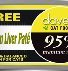 Dave's Pet Food Dave's Cat Can 95% Premium Chicken and Liver Pate 5.5 oz