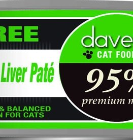 Dave's Pet Food Dave's Cat Can 95% Premium Turkey and Liver Pate 5.5 oz