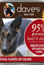 Dave's Pet Food Dave's Dog Can 95% Premium Beef and Chicken 13 oz