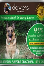 Dave's Pet Food Dave's Dog Can 95% Premium Beef and Liver 13 oz
