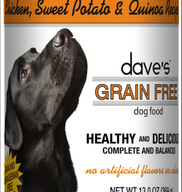 Dave's Pet Food Dave's Dog Can Healthy & Delicious Chicken, Sweet Potato, and Quinoa 13 oz