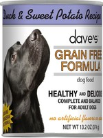 Dave's Pet Food Dave's Dog Can Healthy & Delicious Duck and Sweet Potato 13 oz