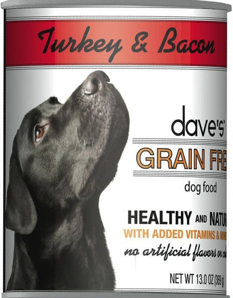 Dave's Pet Food Dave's Dog Can Healthy & Delicious Turkey and Bacon 13 oz