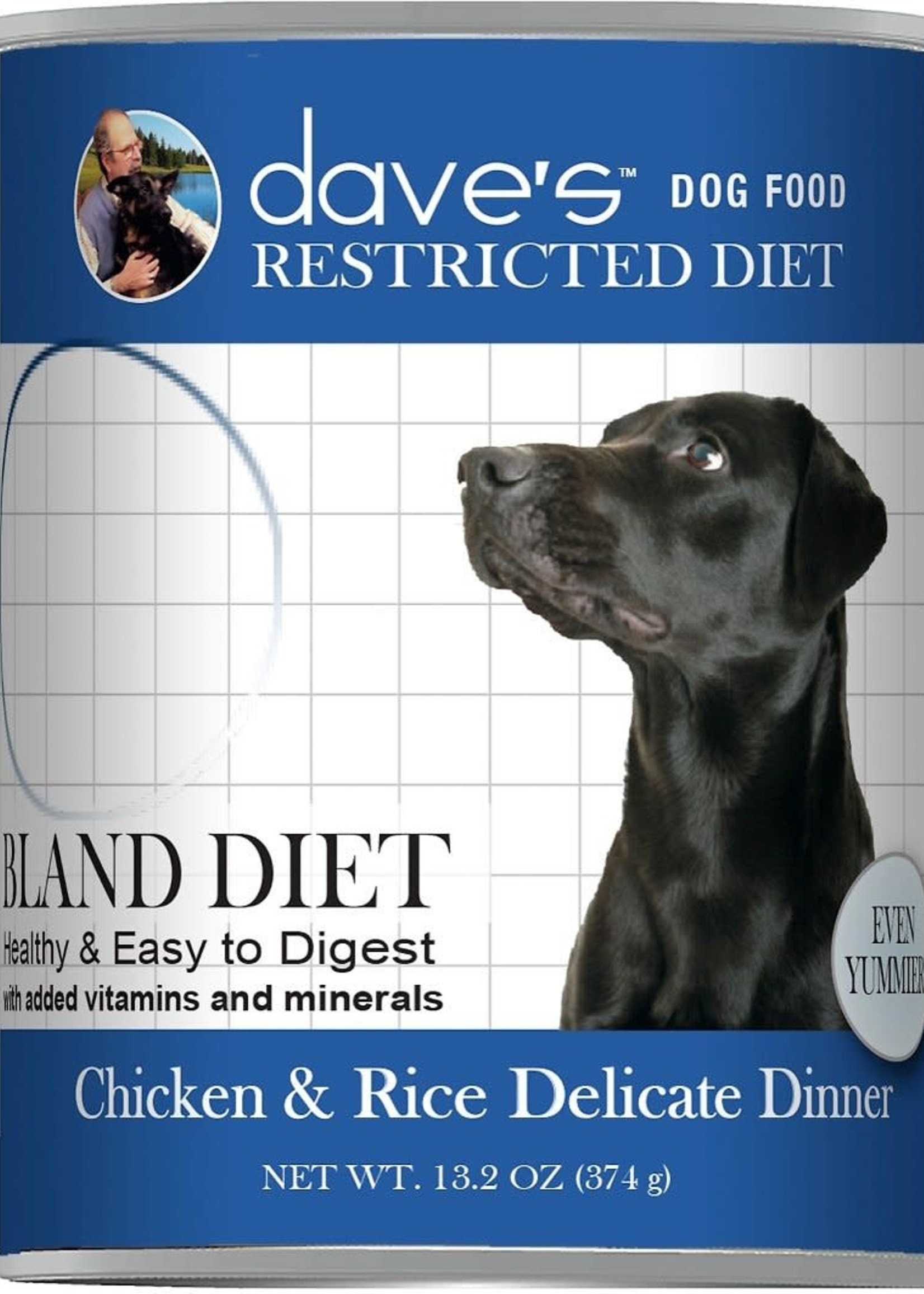 Dave's Pet Food Dave's Dog Can Restricted Diet Bland Chicken and Rice 13 oz