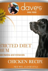 Dave's Pet Food Dave's Dog Can Restricted Diet Sodium Chicken 13 oz