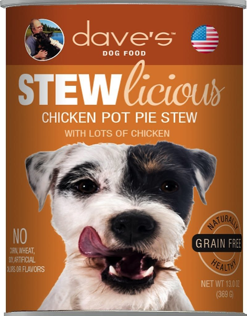 Dave's Pet Food Dave's Dog Can Stewlicious Chicken Pot Pie 13 oz