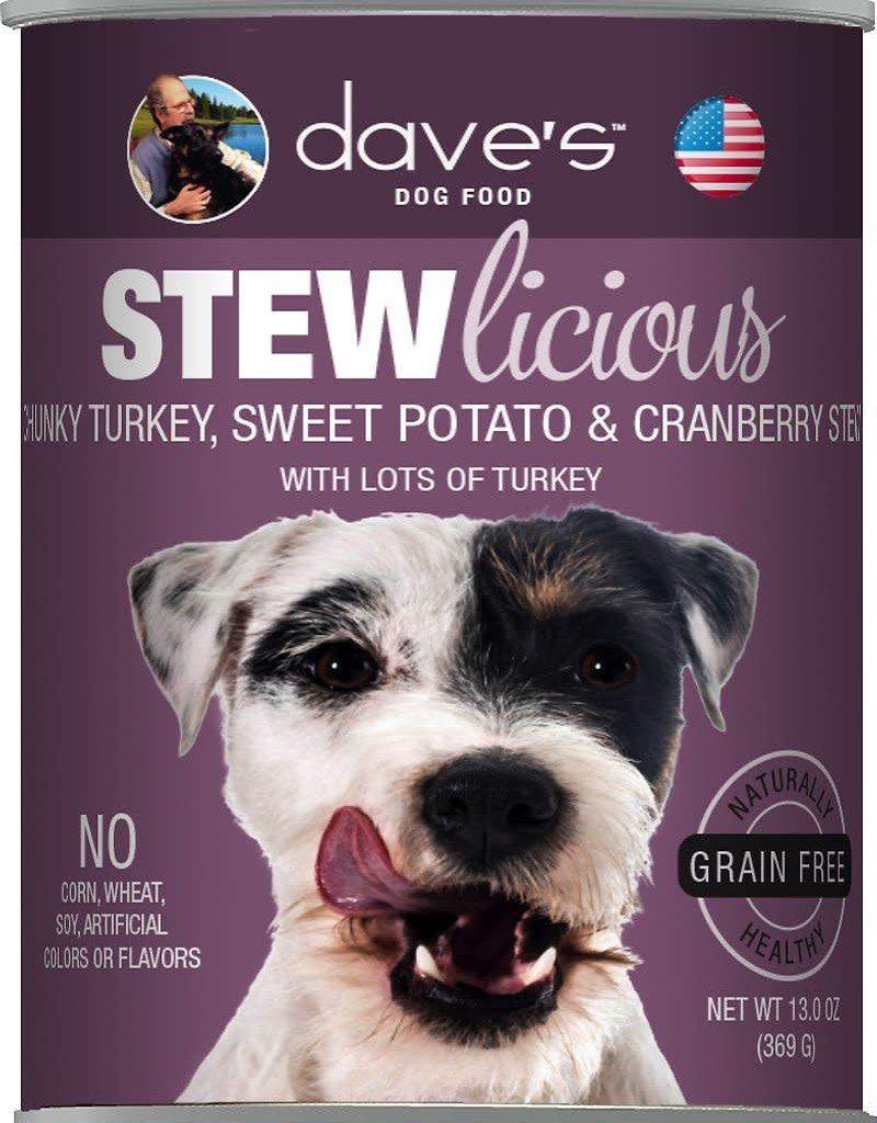 Dave's Pet Food Dave's Dog Can Stewlicious Turkey, Sweet Potato, and Cranberry 13 oz