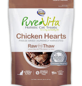 PureVita PureVita Cat Treat Freeze Dried Chicken Heart 0.8 oz