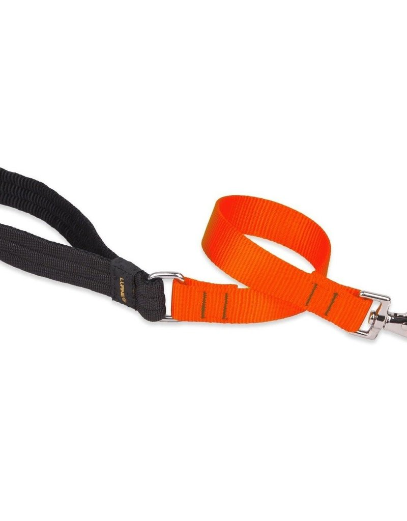 "LupinePet Lupine Leash 1"" Blaze Orange 4'"