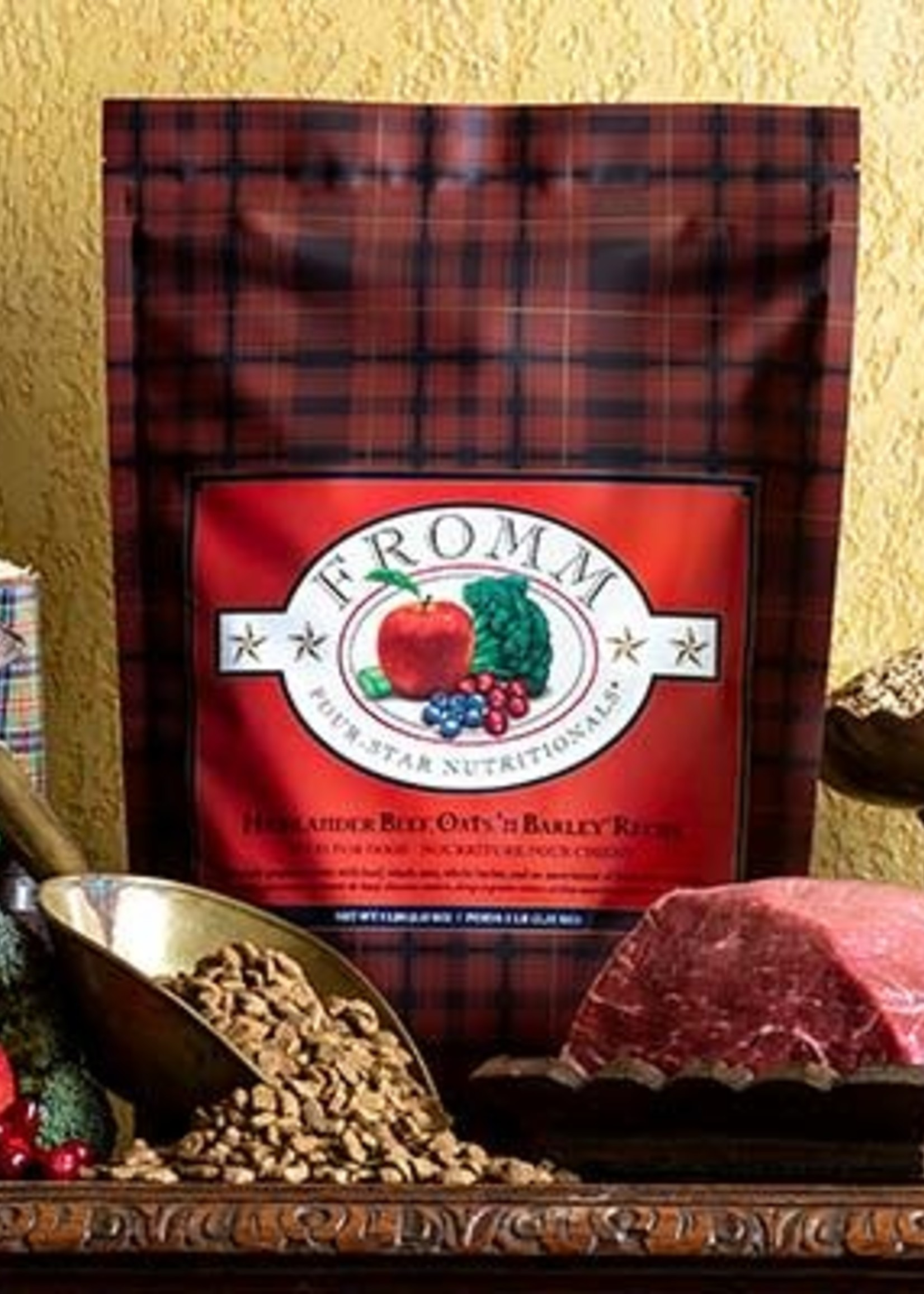 Fromm Family Foods, LLC Fromm Dog Dry 4 Star Highlander Beef, Oats, 'n Barley