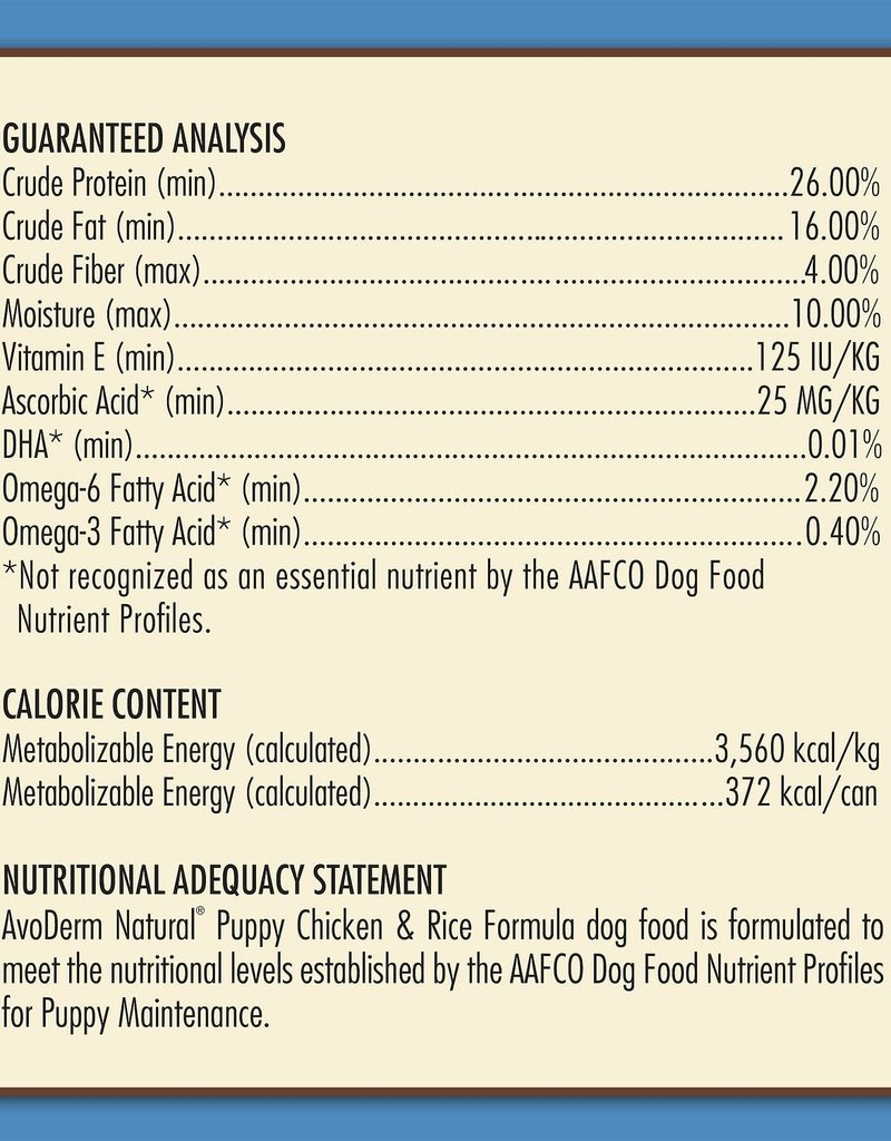 AvoDerm by Breeder's Choice AvoDerm Dog Dry Chicken and Rice Puppy