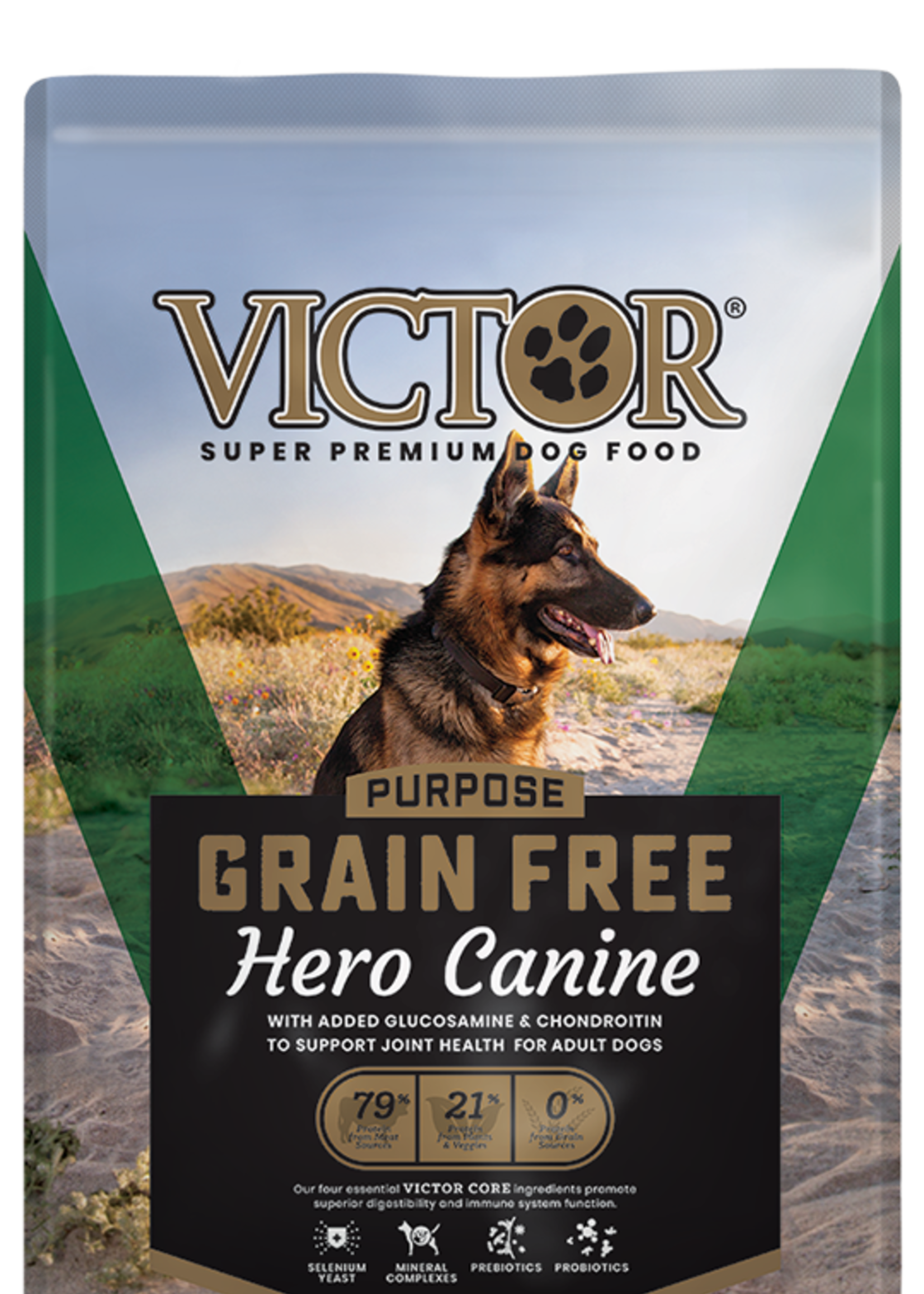 Victor/Mid America Pet Victor Dog Dry Purpose Hero Canine